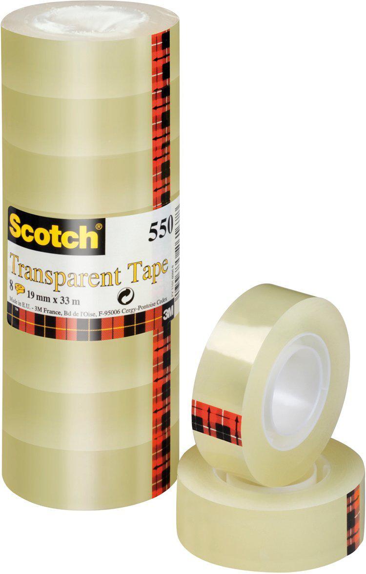 [Panier Plus] Pack de 8 rouleaux de ruban adhésif transparent 3M Scotch - 19mm × 10m