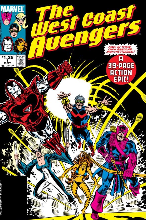 Sélection de 125 Comics Gratuits (Dématérialisés - En Anglais) - Ex: AVENGERS WEST COAST (1985-1994) NO.1