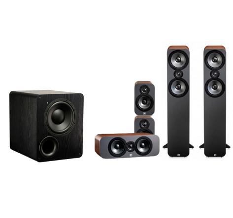 Pack 5.0 Q-Acoustics 3050 Cinema (Noyer ou Graphite) + Caisson SVS PB-1000