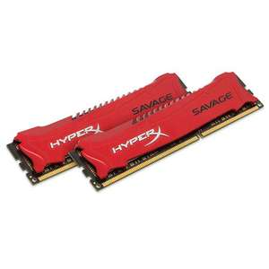 Mémoire Kingston Hyper X Savage RED series - 8Go (2x4Go) - DDR3 - PC3-12800 - Cas 9