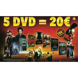 5 DVD à choisir parmi une sélection