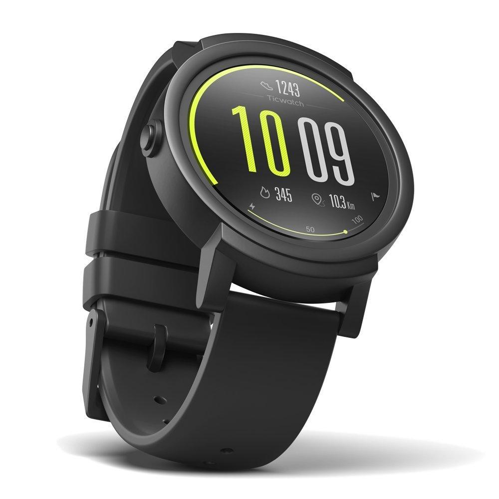 Montre connectée Ticwatch E Noire - Android Wear 2.0, GPS