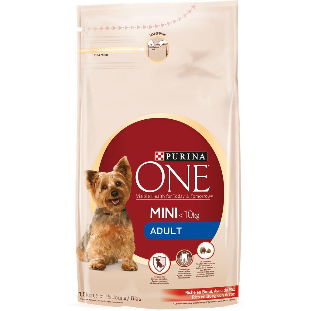 Sélection de paquets de croquettes Purina One en promotion - Ex : Croquettes pour chien Adult Mini 1-10kg poulet riz Purina One