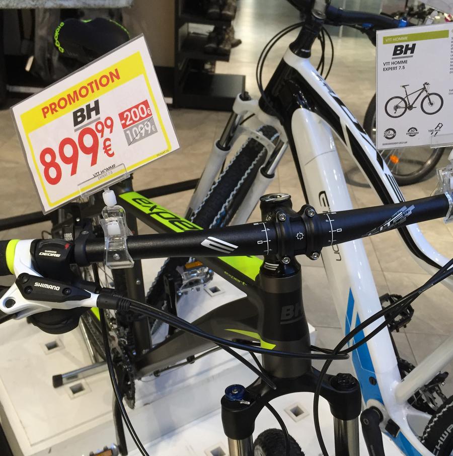 Jusqu'à -30% sur une sélection de vélos - Ex : VTT Homme Expert 7.5