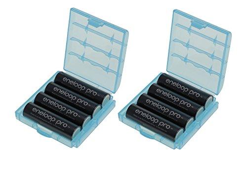 [Prime] Lot de 8 Piles AA Eneloop HR-3UWXB - 2550mah + 2 Boitiers heba (vendeur tiers)