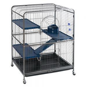 Cage Perfect à 3 niveaux pour furet ou rongeur