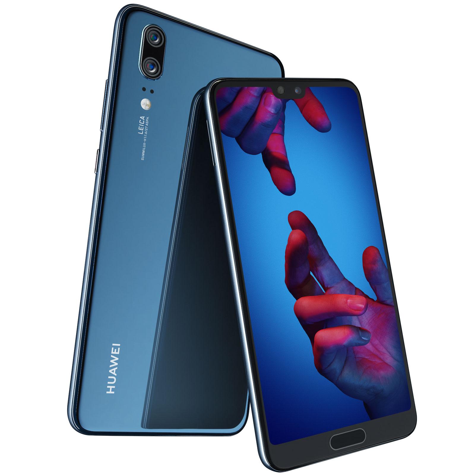 """Smartphone 5.84"""" Huawei P20 (Coloris au choix) - Full HD+, Kirin 970, RAM 4 Go, ROM 128 Go (via reprise ancien téléphone en magasin + 50€ en carte cadeau avec le code WEB10)"""