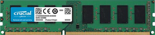 Barrette mémoire RAM Crucial - 8Go - (DDR3L, 1600 MHz, CAS 11)
