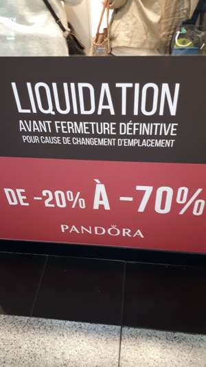 Liquidation totale du magasin, jusqu'à 70% de réduction (St-Lazare Paris 75)