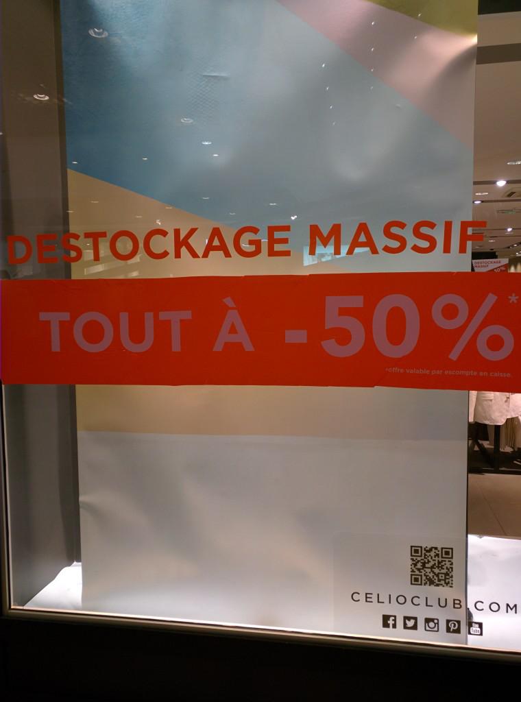 Déstockage : -50% sur tout Ex: chemise cotton slim fit 20€ au lieu de 40