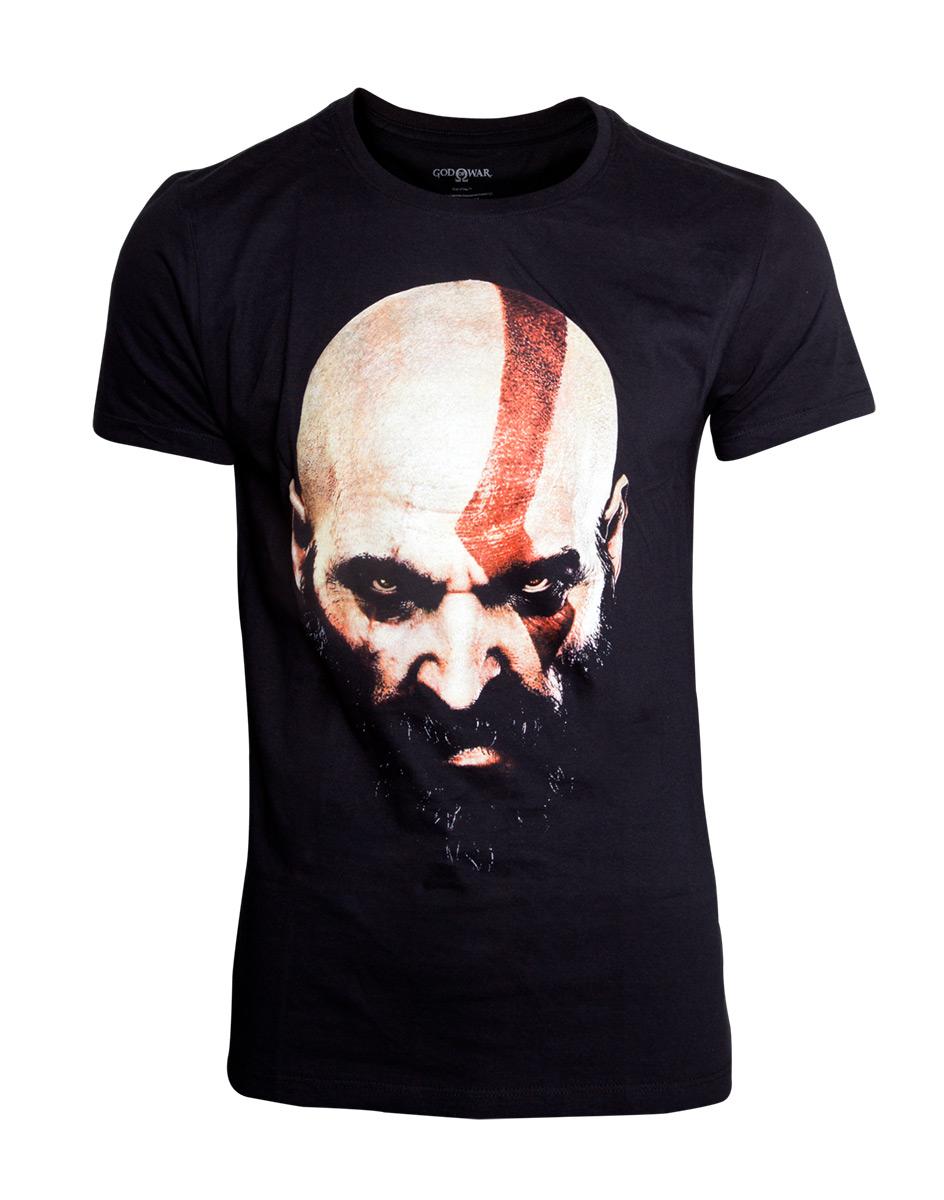 Sélection de T-Shirt et produits dérivés God Of War en promotion - Ex: T-shirt pour homme God of War: Visage de Kratos (Plusieurs tailles)