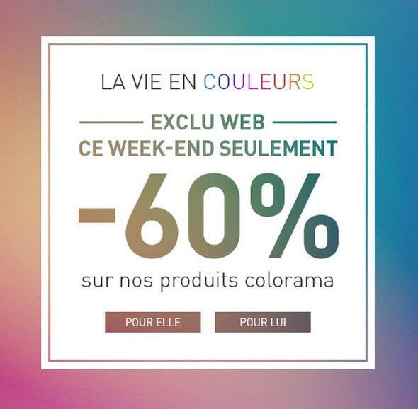 -60% sur les pantalons et shorts de couleurs