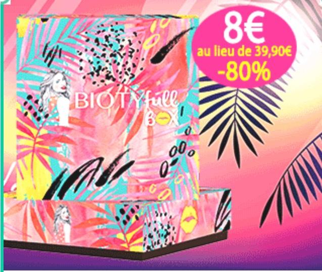 Abonnement Box Biotyfull - première box à 8€ puis 39.99€ (sans engagement)