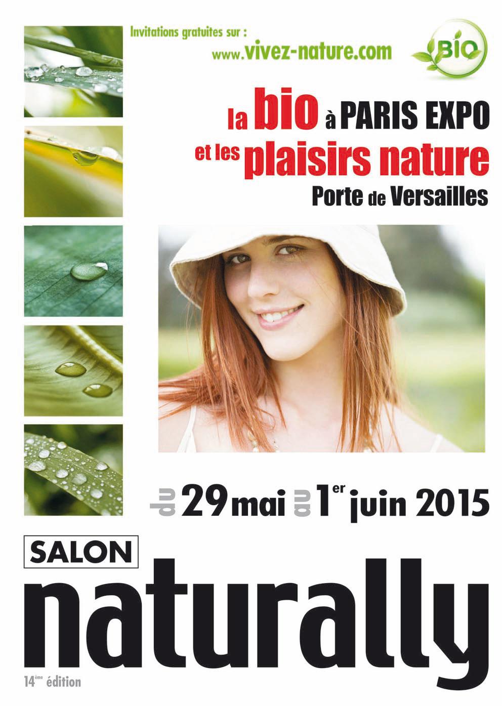 """Invitation gratuite pour le salon Bio """"Naturally"""" de Lyon et Paris (au lieu de 5€)"""