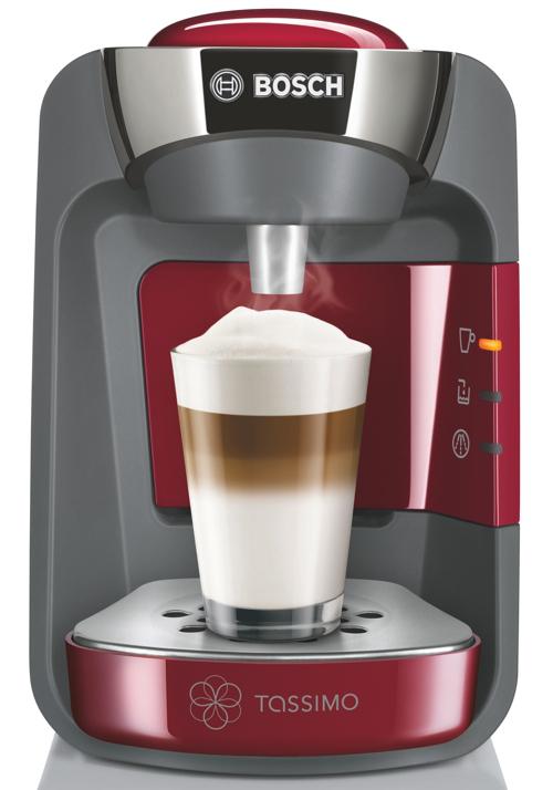 Machine à café Bosch Tassimo Suny T32 Rouge (Blanche pour 5€ de plus) + 3 paquets de dosettes