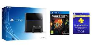 Console Sony Playstation 4 + Minecraft + 3 Mois d'abonnement au Playstation Plus + Playstation TV