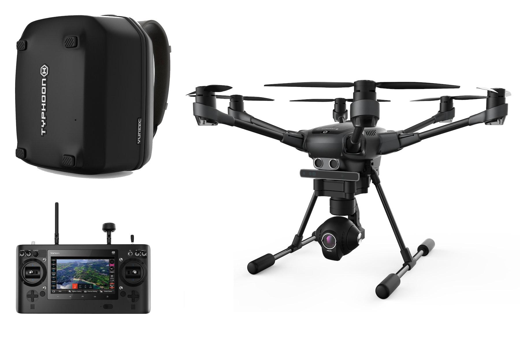 Drone Yuneec Typhoon H RTF, sac à dos et 2 batteries