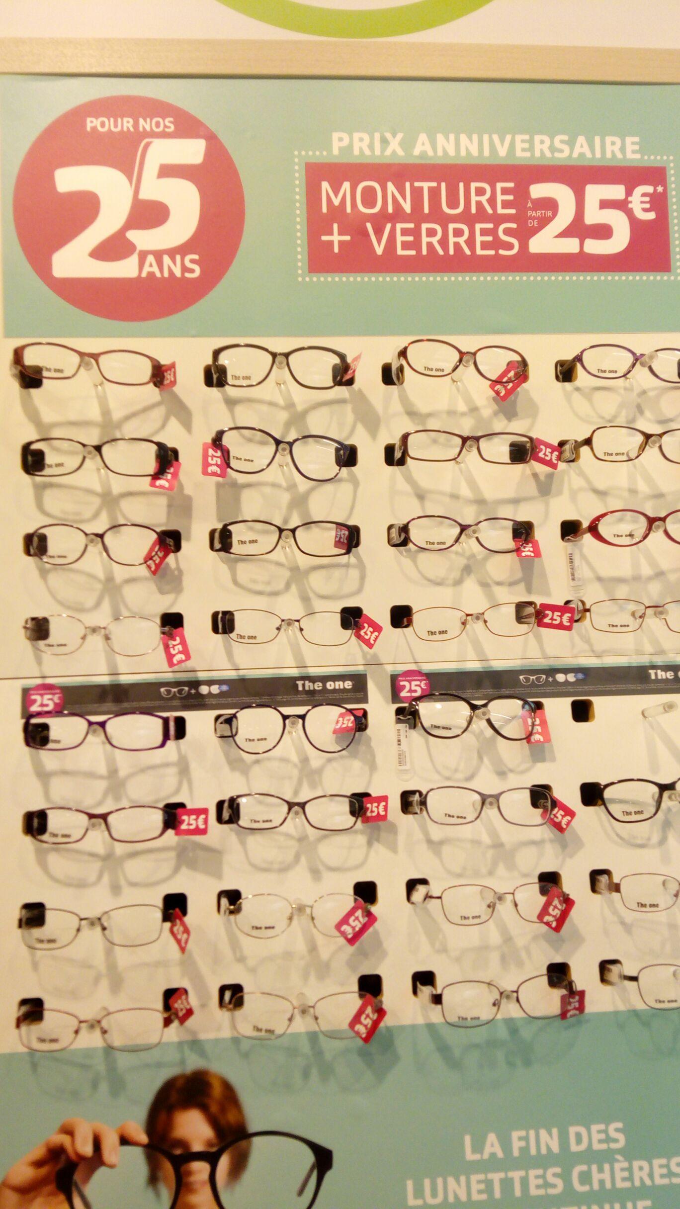 25€ la paire de lunettes (monture + verres) - Fenouillet (31)