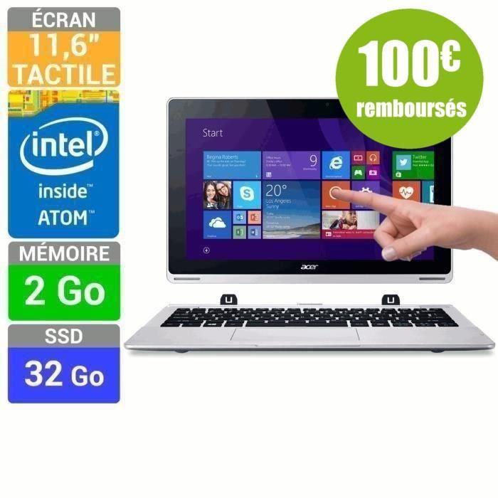 """PC portable hybride 11.6""""  Acer Aspire Switch 11 SW5-111-178U (avec ODR 100€)"""