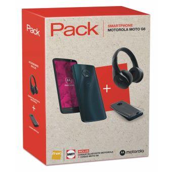 """Pack Smartphone 5.7"""" Motorola Moto G6 (Indigo foncé) + Coque + Casque bluetooth Pulse Escape+ (via ODR 30€)"""