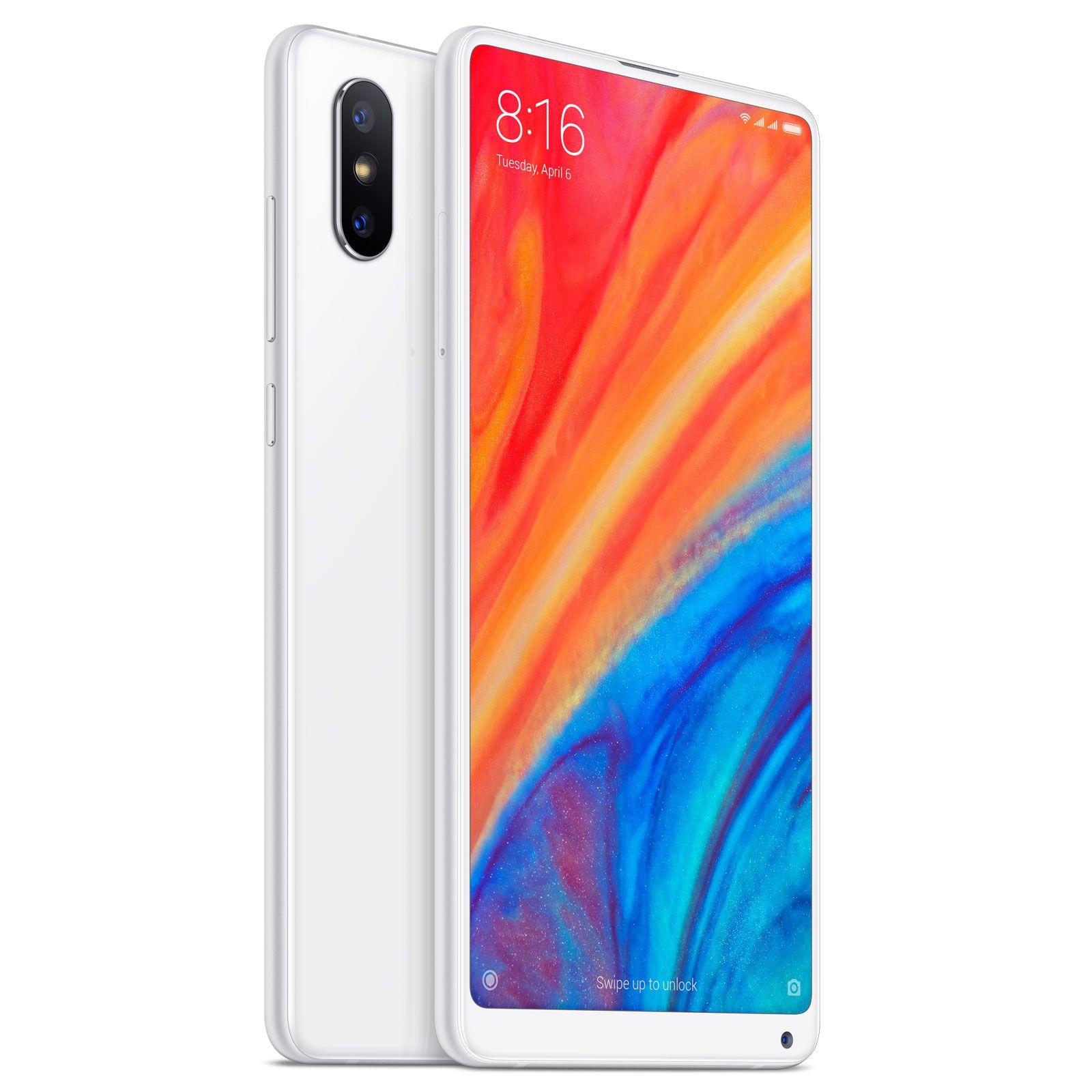"""Smartphone 5.99"""" Xiaomi Mi Mix 2S (Noir ou Blanc) - 4G (B20), Full HD+, SnapDragon 845, RAM 6 Go, ROM 64 Go"""