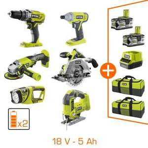 Pack Ryobi R18ck6 250s 6 Outils Pro One 18v 2