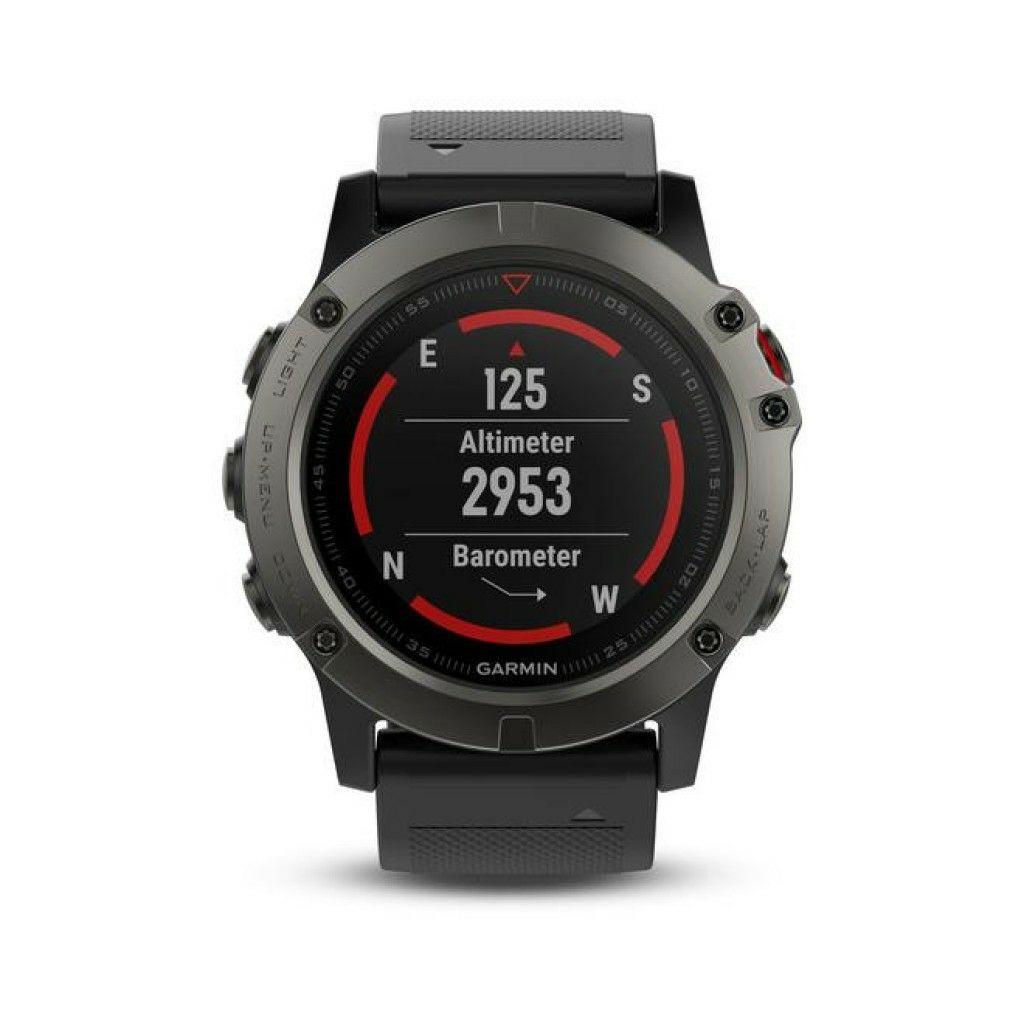 Montre multisport GPS Garmin Phénix 5X Sapphire - Grise