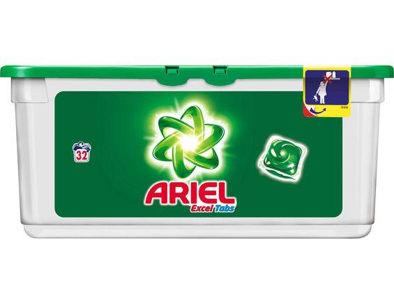 Lessive Ariel Excel Tabs - 32 doses (via 6.86€ sur la carte fidélité)