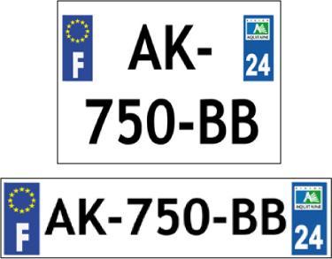 Plaque d'immatriculation personnalisée en Plexiglas - Voiture ou Moto