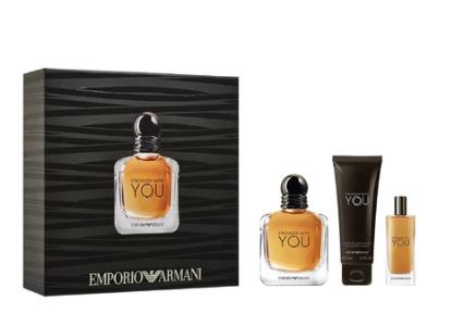 [Carte de fidélité] Coffret Eau de Parfum Emporio Armani Stronger for You: Eau de Parfum 100 ml + Vaporisateur 15 ml + Gel Douche 75 ml