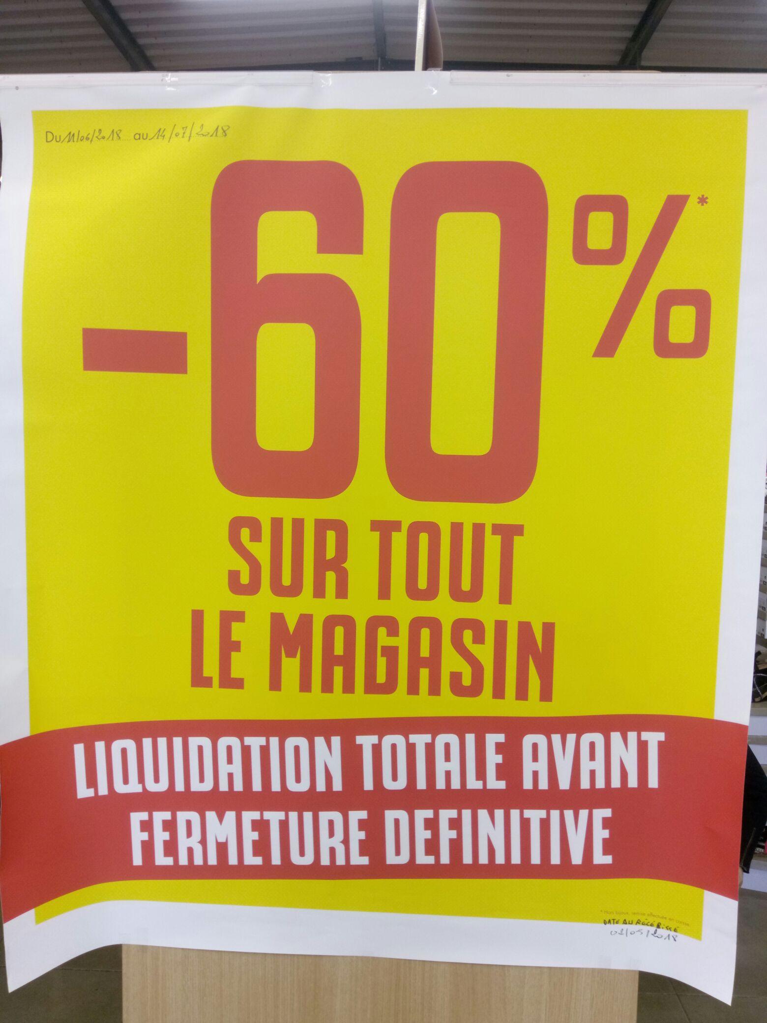 60% de réduction sur tout le magasin avant liquidation totale - Ruffec (16)
