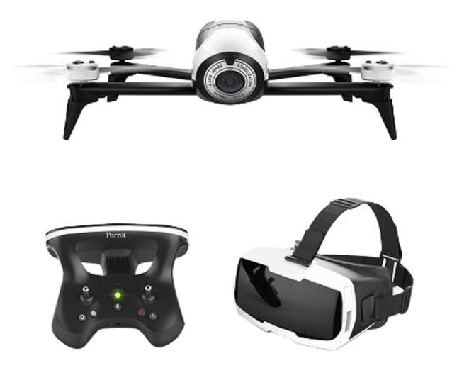 Drone quadricoptère Parrot bebop 2 + skycontrolleur 2 + casque VPF