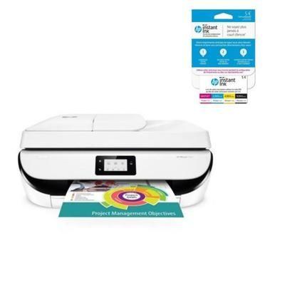 Imprimante HP tout-en-un Officejet 5232 + Carte Instant ink avec Forfait jusqu'à 15 pages/mois (via ODR de 40€)