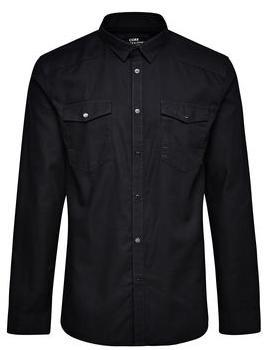 Jusqu'à -60% sur une sélection d'articles soldés - Ex : Chemise à manche longue noire (Taille S/M)
