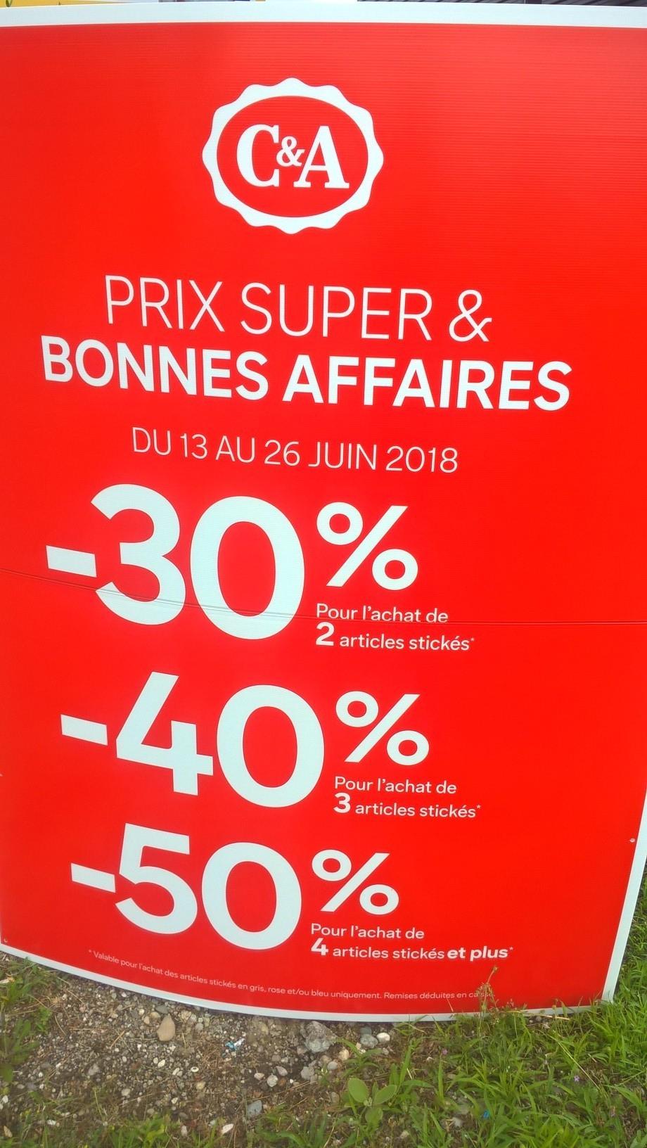 30% de réduction dès 2 articles achetés, 40% dès 3 articles et 50% dès 4 articles - Strasbourg (67)