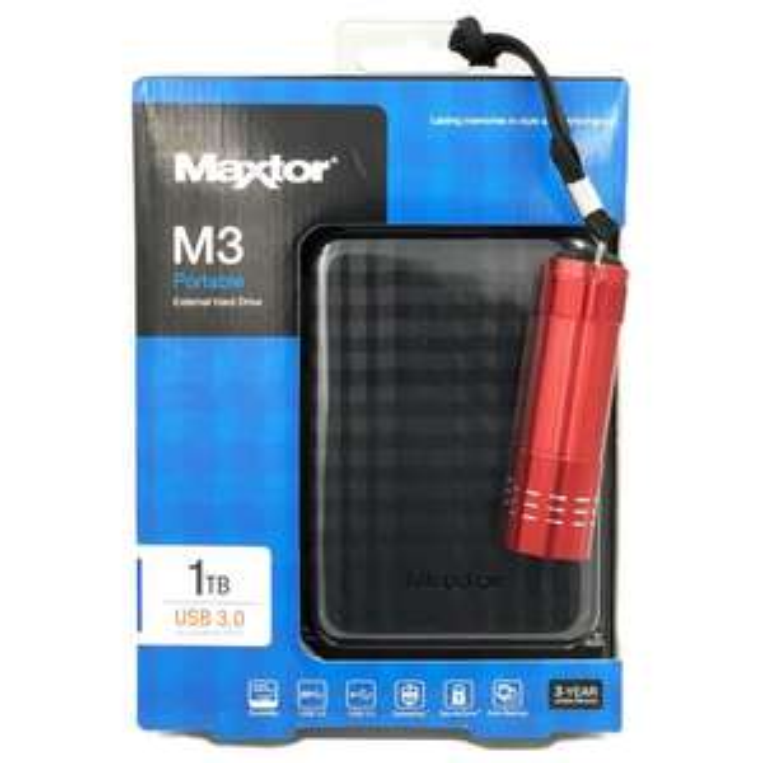 "Disque dur externe 2.5"" Maxtor M3 USB 3.0 (STSHX-M101TCBM) - 1 To + Lampe"