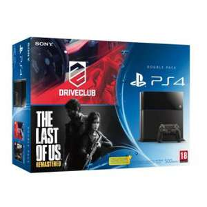 Console PS4 + Driveclub + The Last of Us Remastered + 2ème manette