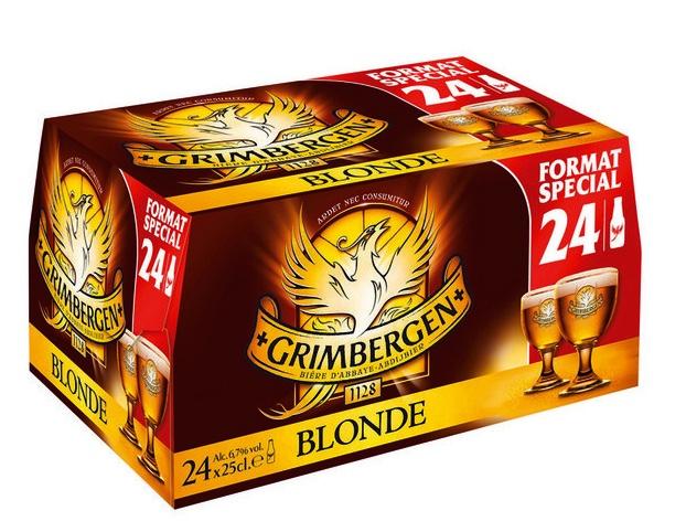 Sélection de bières en promotion - Le pack de Grimbergen blonde, 24*25 cl (via carte fidélité)