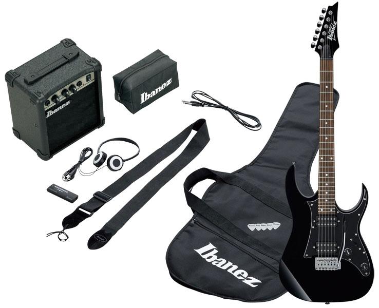 Pack Ibanez IJRG200-BK pour débutant avec Guitare, ampli, access