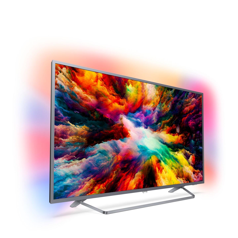 """TV 50"""" Philips 50PUS7303 - LED, 4K UHD, HDR Plus, Ambilight 3 côtés, Android TV (via ODR de 100€)"""