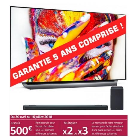 "TV LG 65"" OLED65C8 - OLED, UHD 4K + Barre de Son SK9Y (Via ODR 1500€)"