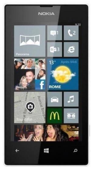 """Smartphone 4"""" Nokia Lumia 520 Blanc (via 30€ ODR)"""