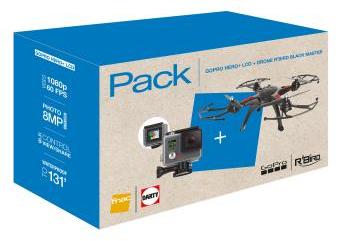 Pack caméra sportive GoPro Hero+ LCD + Quadricoptère RTF R'Bird Black Master DM240