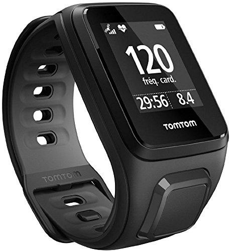 Montre TomTom Runner 2 Cardio + Music - Bracelet Fin Noir/Anthracite
