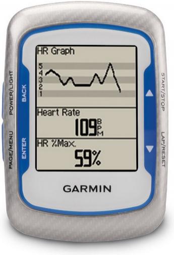 GPS Vélo Garmin Edge 500 + Ceinture cardiofréquencemètre et Capteur cadence Etanche USB Bleu