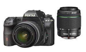Appareil photo numérique Reflex Pentax K-3 24 Mpix Kit + Objectif 18-55 mm + Objectif 55-200 mm