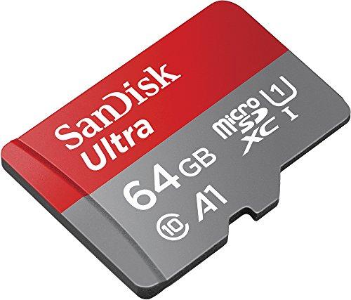 Carte microSDXC SanDisk Ultra - 64 Go + Adaptateur