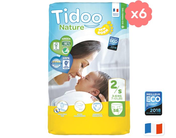 Lot 6 Packs de Couches écologiques Tidoo (Plusieurs Tailles)