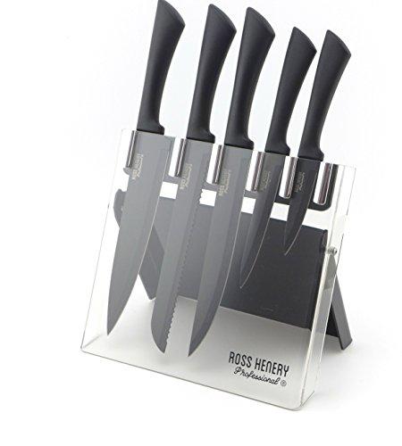 lot de 5 couteaux de cuisine ross henery noirs vendeur tiers. Black Bedroom Furniture Sets. Home Design Ideas