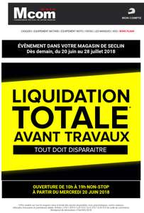 Liquidation avant travaux magasin - Seclin (59)